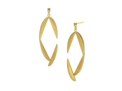 Open Diamond Fold Earrrings