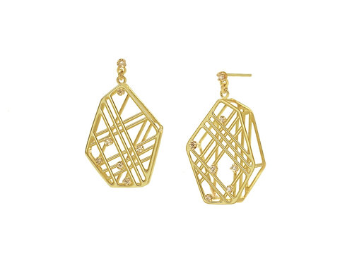 Asymmetical Geometric Earrings