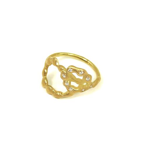 Double Loop Diamond Ring