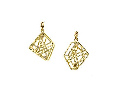 Fractal Diamond Earrings