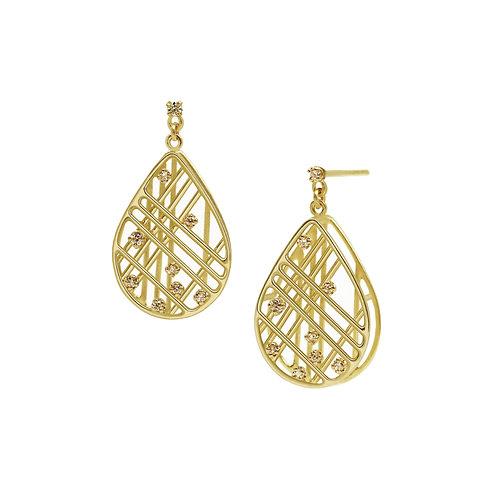 Drop Wire Diamond Earrings