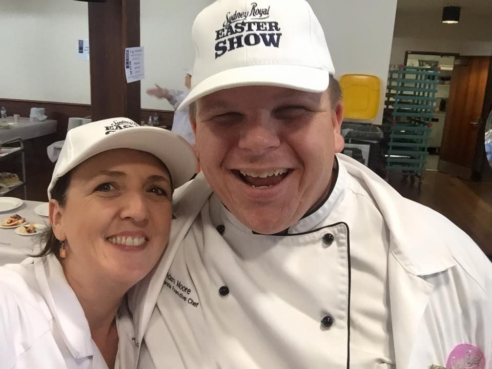 My good Friend Tawnya Bahr from Straight to the Source and myself both at The Royal Fine Foods Regional food judging in Sydney