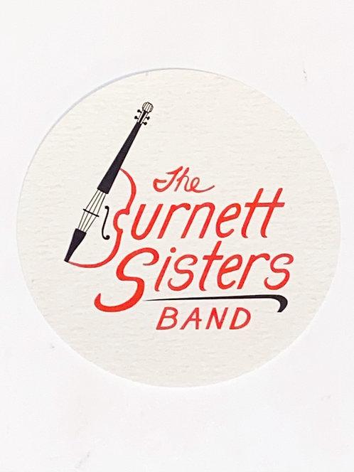 The Burnett Sisters Band | 4x4 Circle Sticker