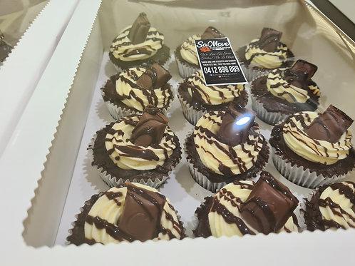 Chocolate ganache cupcakes x12