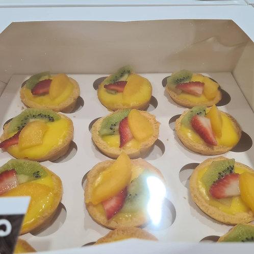 Fruit Custard mini Pies