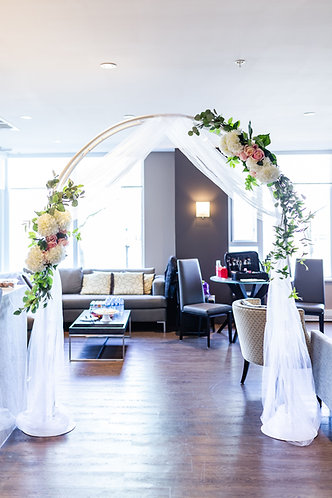 DIY White Wedding Arch