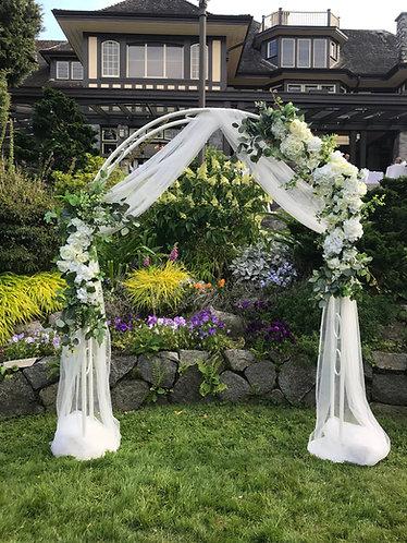 DIY White Wedding Arch