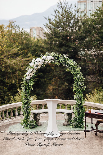 Standard Floral and Greenery Arch
