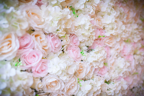 Ombré Flower Wall 1 (Blush and Ivory)