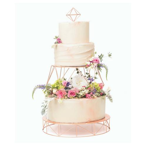 Gold Geometric Cake Stand / Cake Riser