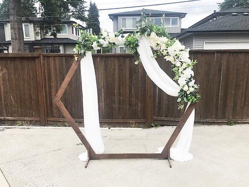 Hexagon Wooden Arch