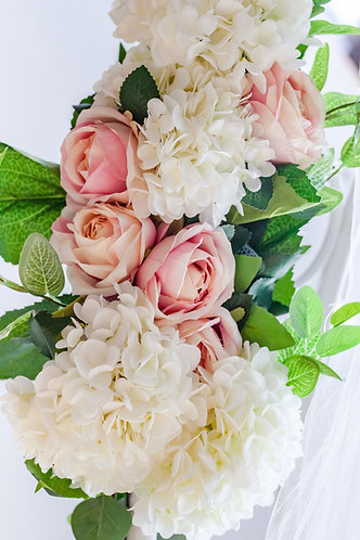 Pink and Ivory Floral Swags