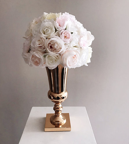 Large Rose Gold Pot with Artificial Floral Arrangement