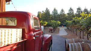 Our partner's vintage truck at the vineyard