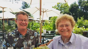 Gery & Peggy Peterson enjoying some wine