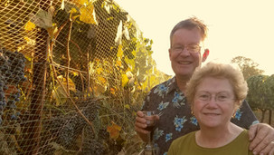 Gery & Peggy in the vineyard
