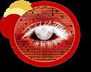 Logo Eeckweb design 6 (Red  transparent)