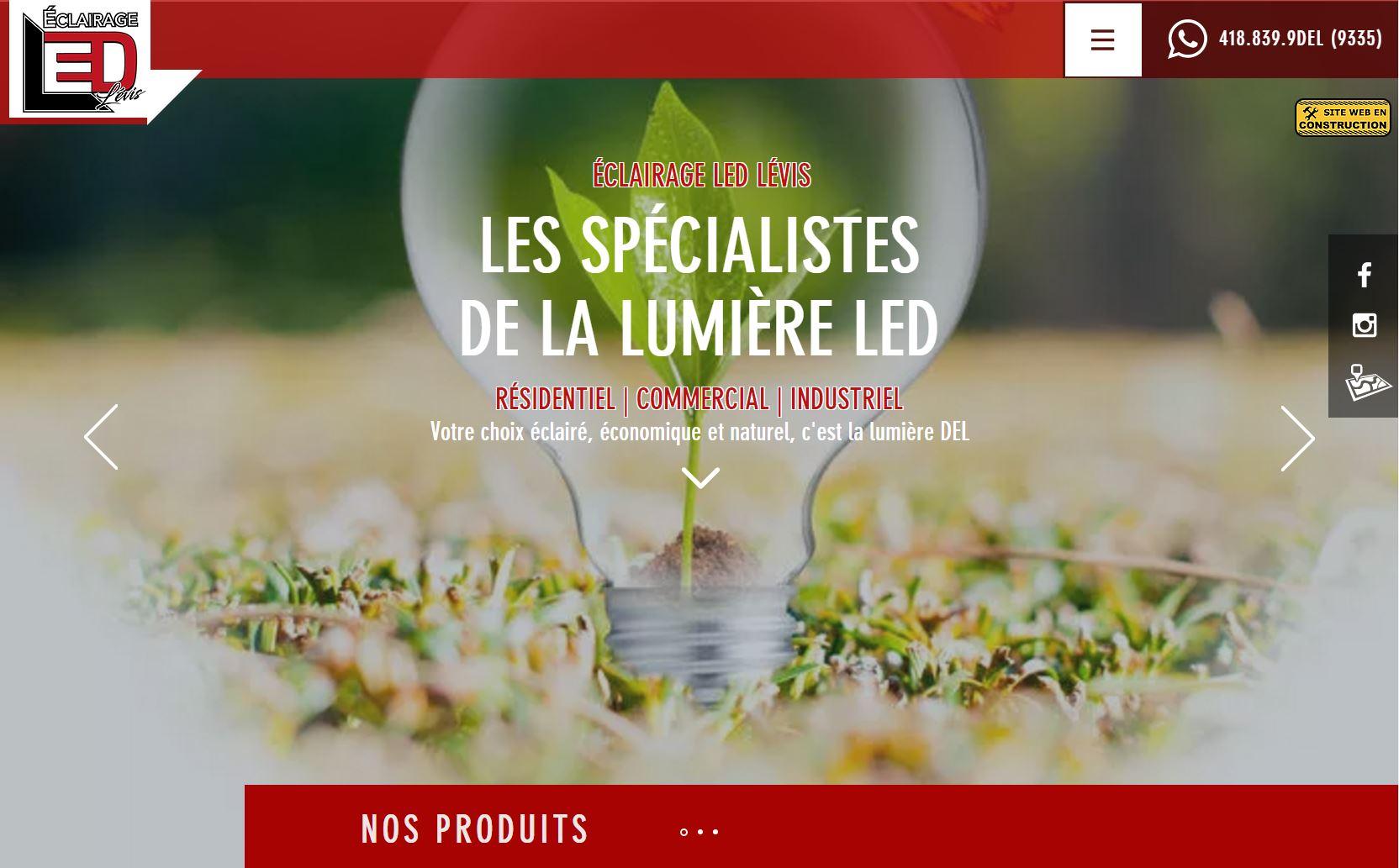Éclairage LED Lévis