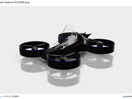 Autodesk 3D Viewer of the Mavdrone