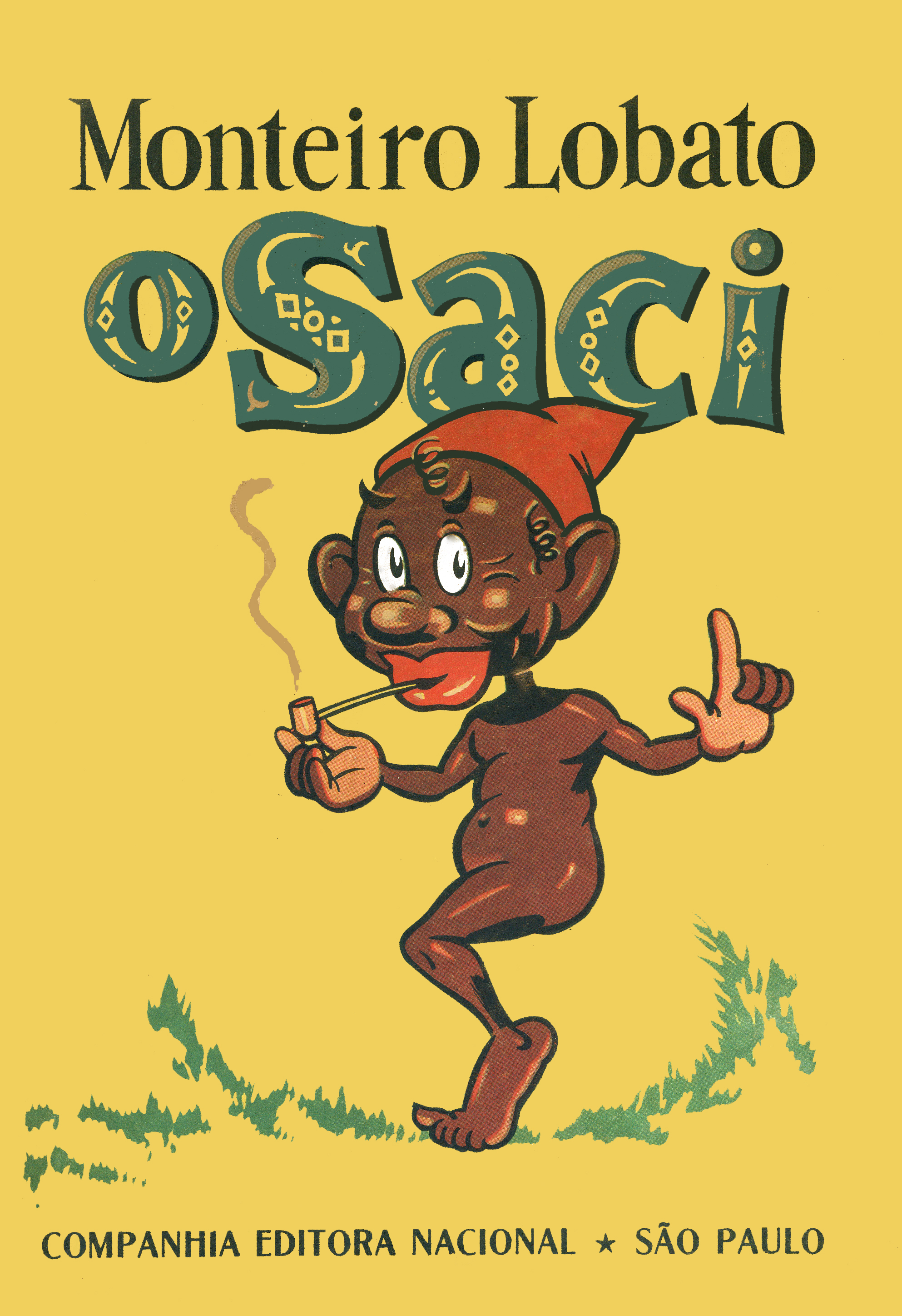 O Saci, capa, 8ª ed., CEN, 1941. Ilustr. J.U.Campos