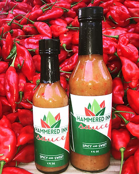 Hammered Inn Sauce: Spicy and Sweet. Taste it, Love it, Pour it on!