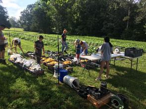 Harvest day set up