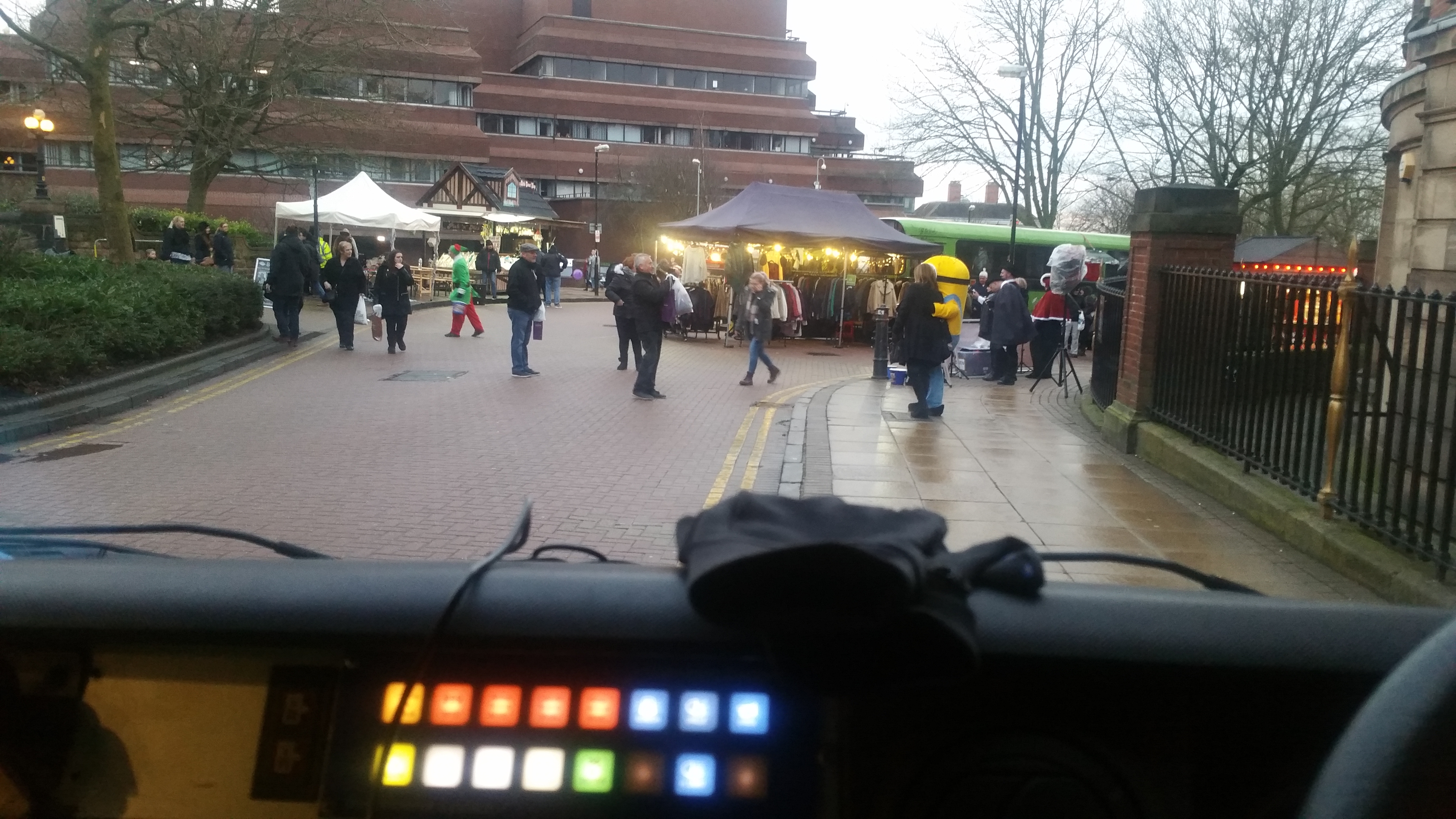 A couple of our team at Wolverhampton Christmas Market