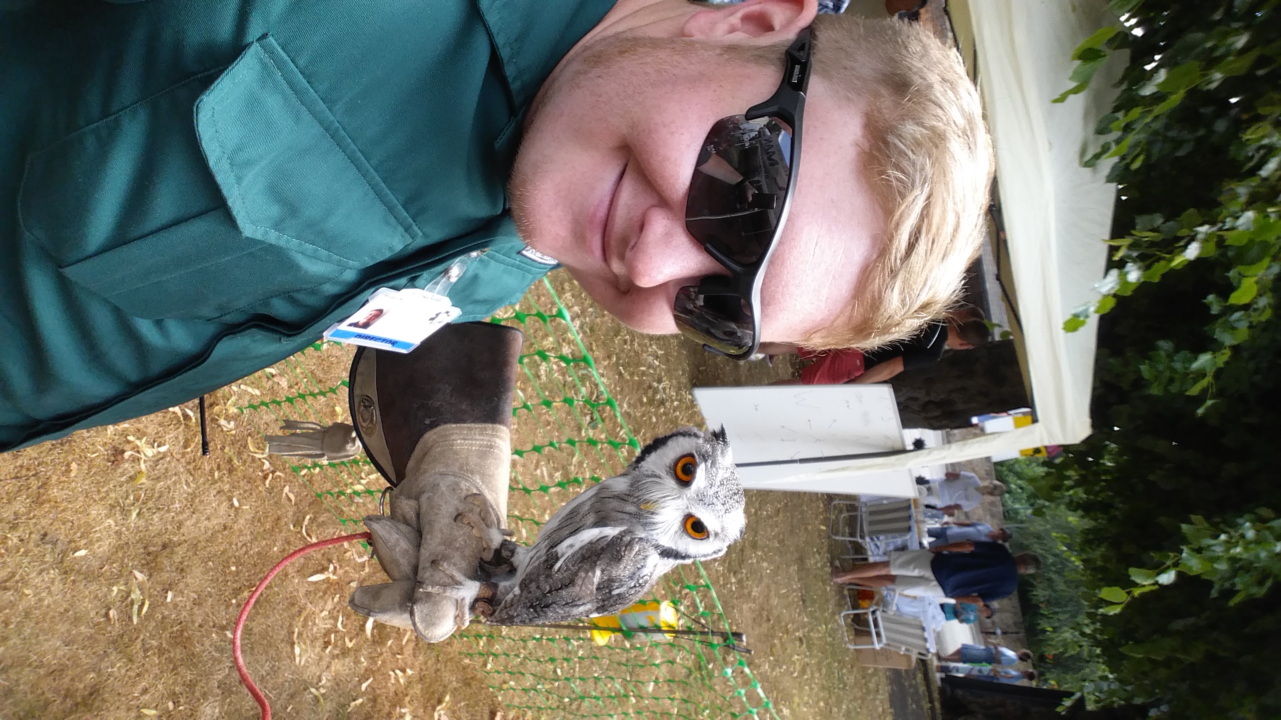 Selfie with an owl at Albrighton Fayre