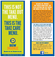 Dewey's Pizza DewMore pamphlet