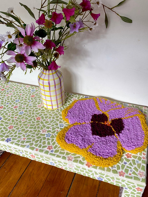 Lilac & Yellow Pansy