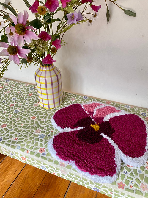 Magenta and Pink Pansy