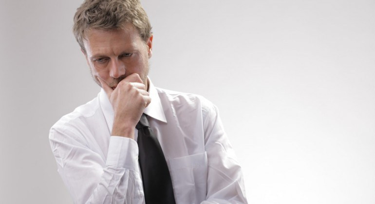 man worrying about weed