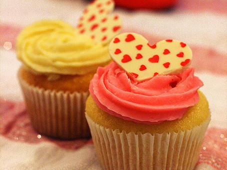 Cupcakes de Pêssego, Coco e Espumante