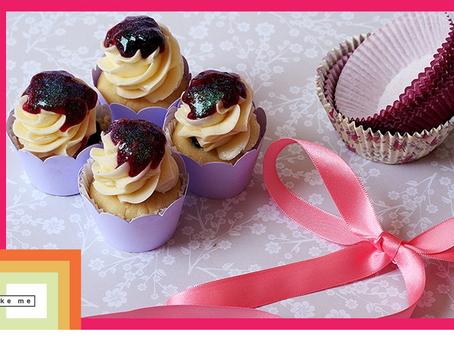Minicupcake de Blueberry com Mascarpone