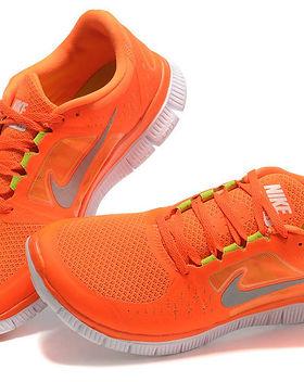 2012 Nike Free Run 5.0 Orange Silver Sho