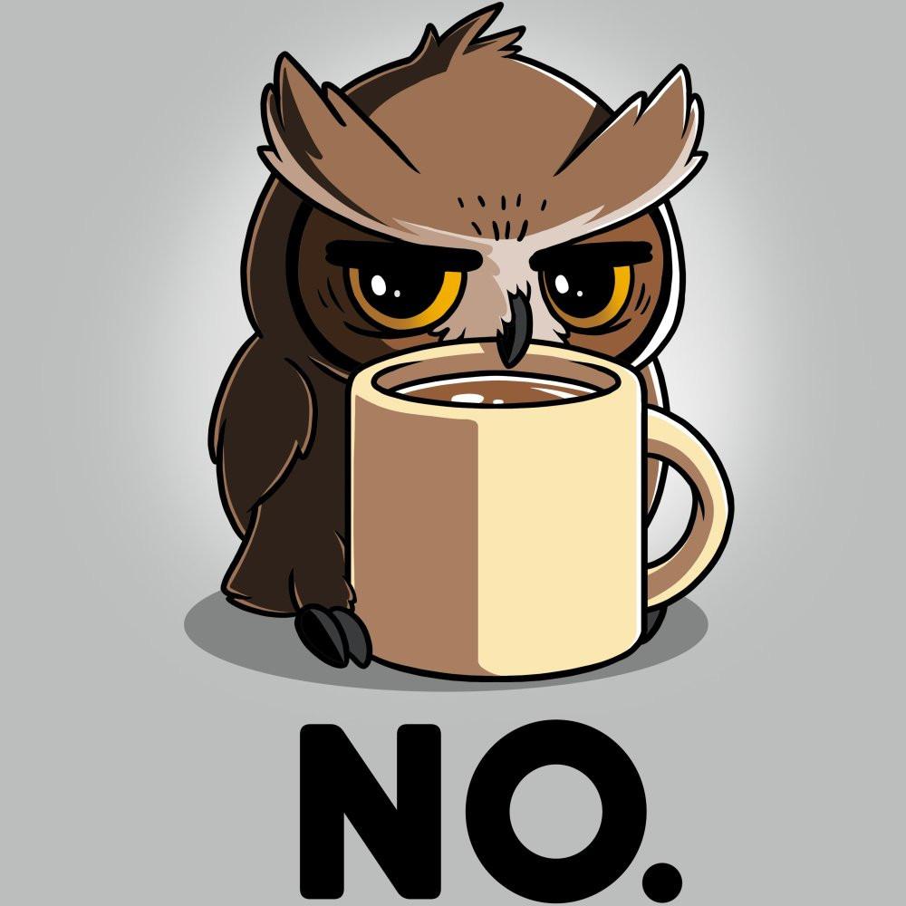 Night owl drinking coffee