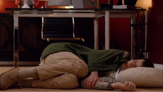 Silicon Valley sleeping on floor