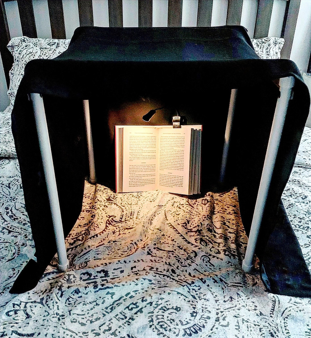 Night Nook for reading in bed without disturbing your partner