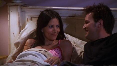 Monica and Chandler Couple Sleeping Together