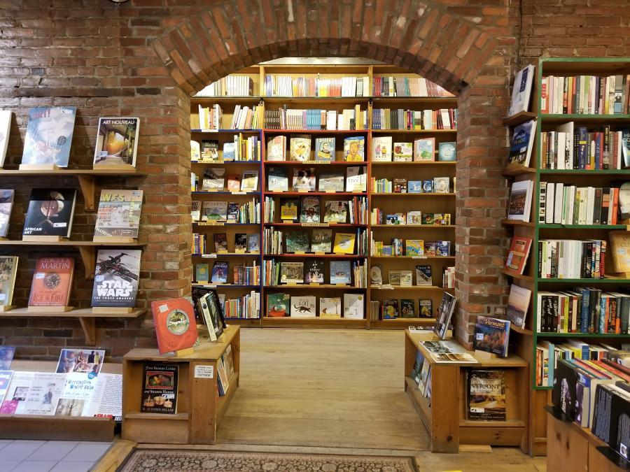 local bookstore displaying books