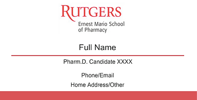Rutgers amcp student chapter business card fundraiser business card fundraiser and padfolio colourmoves Gallery
