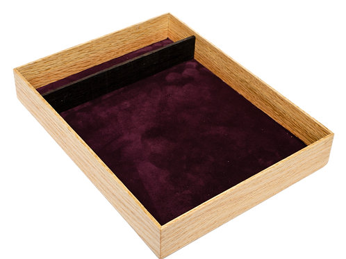 Red Oak & Wenge Tabletop Dice Tray
