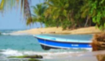 Puerto Viejo Beach, fishing boat, Near Casa Luna Beach House, Puerto Viejo