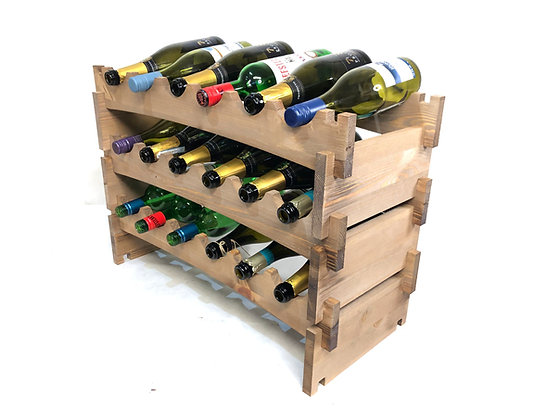 Stackable / Modular Wine Rack - 18 Bottle