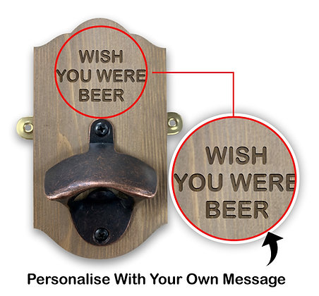 Wall Mounted Personalised Beer Bottle Opener