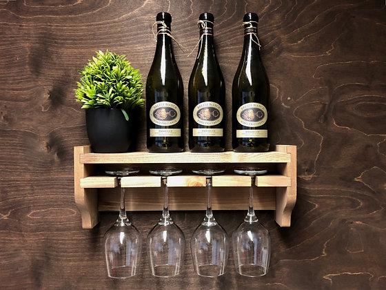 4 Glass Wine Shelf