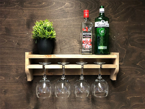 4 Glass Gin Shelf