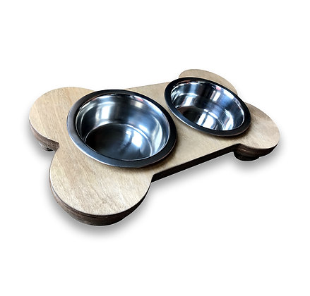 Bone Shaped Dog Bowl