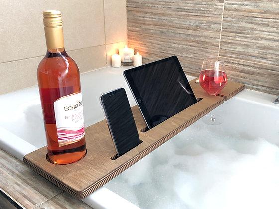 Personalised Wooden Bath Caddy / Bathbar