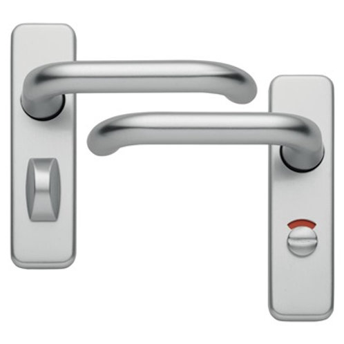 Hoppe Roundbar Aluminium 19mm Backplate Bathroom Handle DFU0303